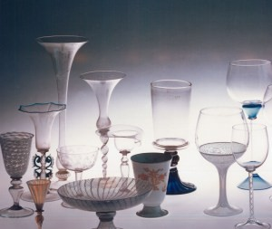 Glass Museum in Murano, Goblets and drinking glasses