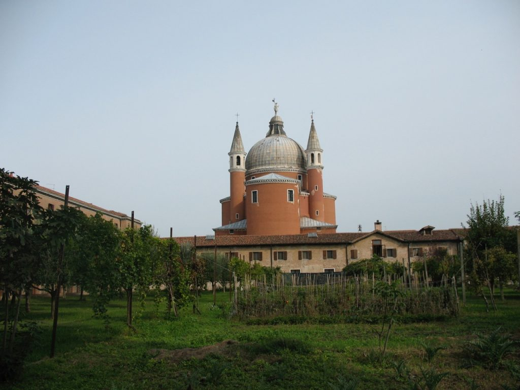 Orchard of the Church Redentore on the Giudecca island in Venice