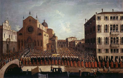 Gabriel Bella: The Doge's Funeral at Saints John and Paul, Foundation Querini Stampalia, Venice