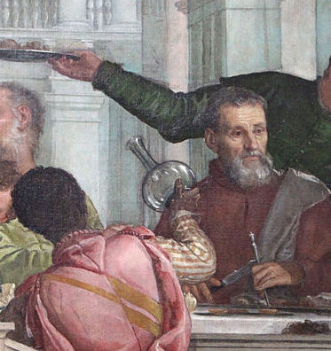 Paolo Veronese, Christ in the House of Levi (detail), 1573, Gallerie dell'Accademia, Venice (from wikimedia commons: https://commons.wikimedia.org/wiki/File:Veronese,_Convito_in_casa_di_Levi,_1573,_07.JPG?uselang=it )