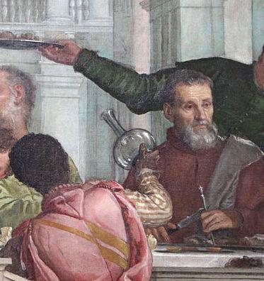 Paolo Veronese, Il Convito in Casa di Levi (dettaglio), 1573, Gallerie dell'Accademia, Venezia (da wikimedia commons: https://commons.wikimedia.org/wiki/File:Veronese,_Convito_in_casa_di_Levi,_1573,_07.JPG?uselang=it )