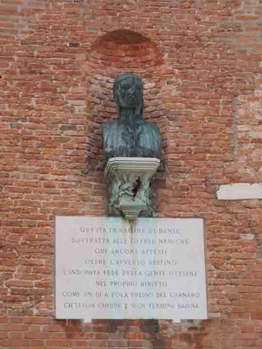 Arsenale a Venezia, Busto di Dante Alighieri