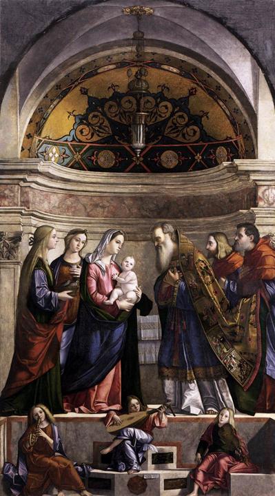 Vittore Carpaccio, Presentazione di Gesù al Tempio, 1510, Gallerie dell'Accademia, Venezia (da wikipedia: https://it.wikipedia.org/wiki/Vittore_Carpaccio )