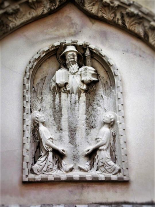 Venezia, Campo della Maddalena, bassorilievo di San Magno