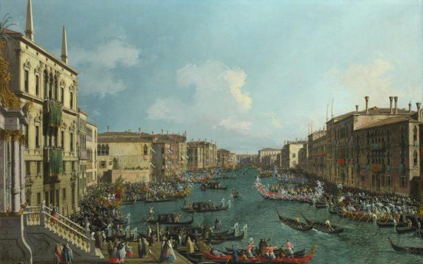Canaletto, Regatta on the Grand Canal