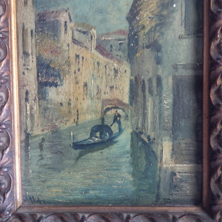 gondola, tela del 1800, collezione privata