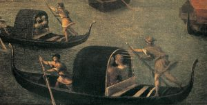 """G.B. Angelo del Moro: particolare da """"S. Marco e tre magistrati veneti reclutano milizie da mar"""", Museo navale, Venezia"""