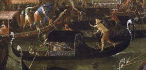 Joseph Heinz il Giovane, Fresco di barche a Murano durante al Sensa, Museo Correr, Venezia