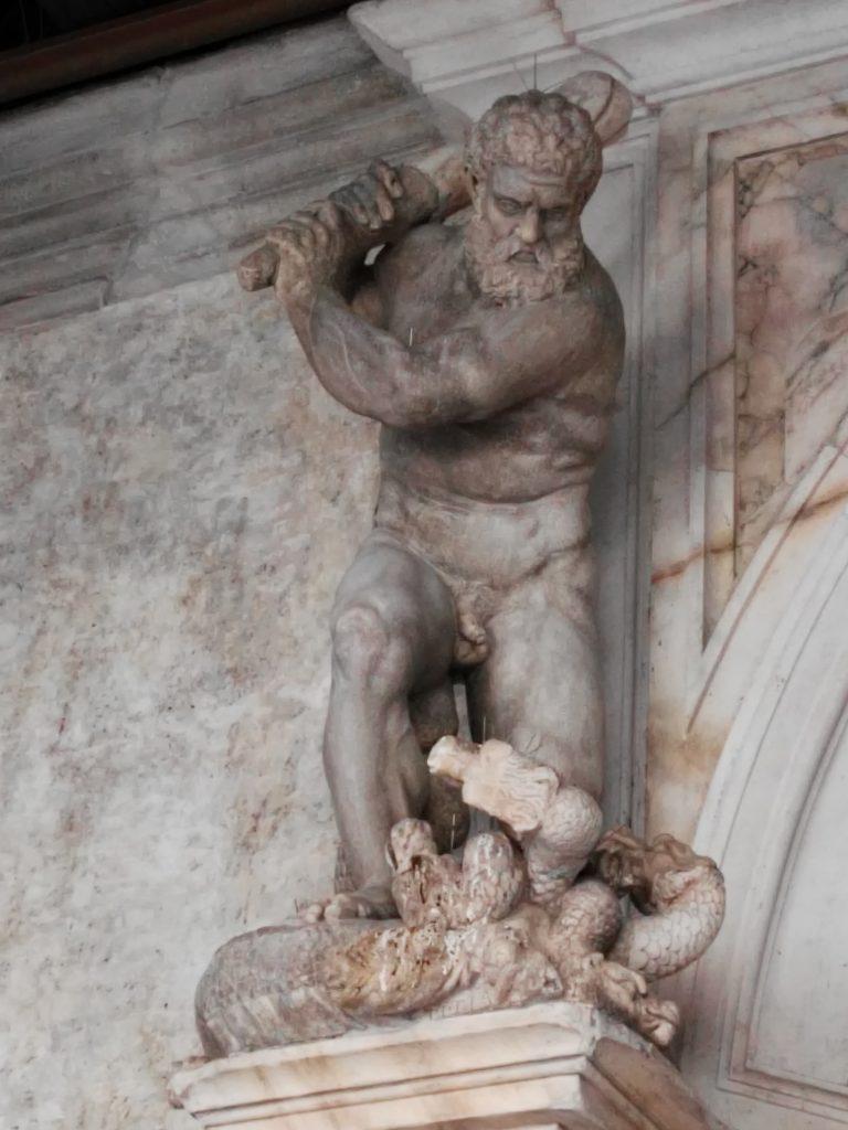 Ercole uccide l'Idra, Scala d'oro a palazzo Ducale, Venezia