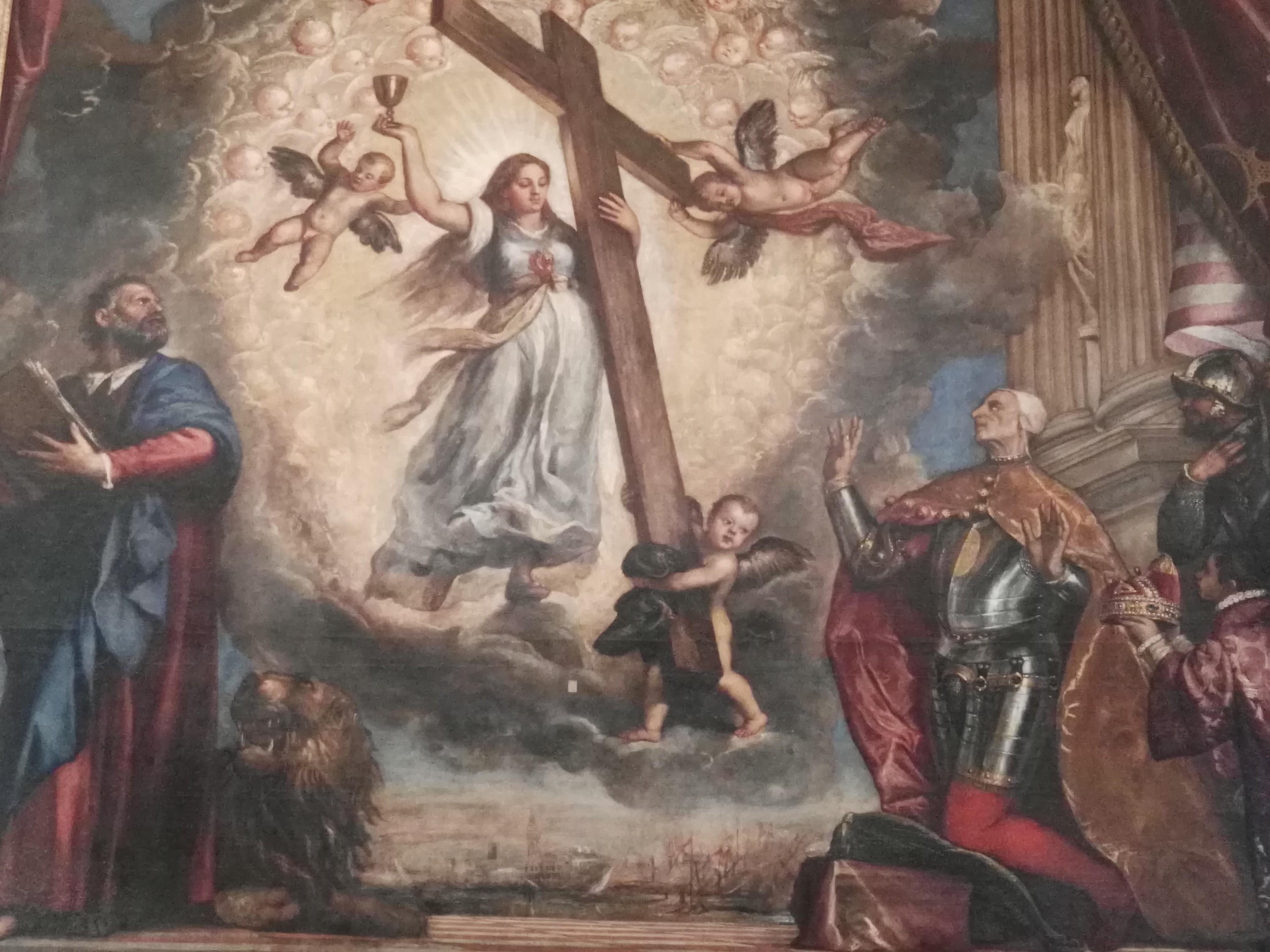 Doge Antonio Grimani in ginocchio davanti alla Fede, Tiziano, Palazzo Ducale a Venezia