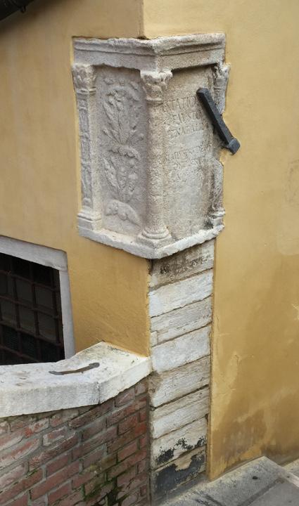 Venice, Roman inscriptions, Ponte dei Preti
