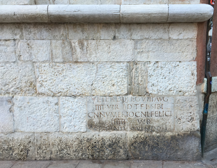 Venice, Roman inscriptions, San Vidal
