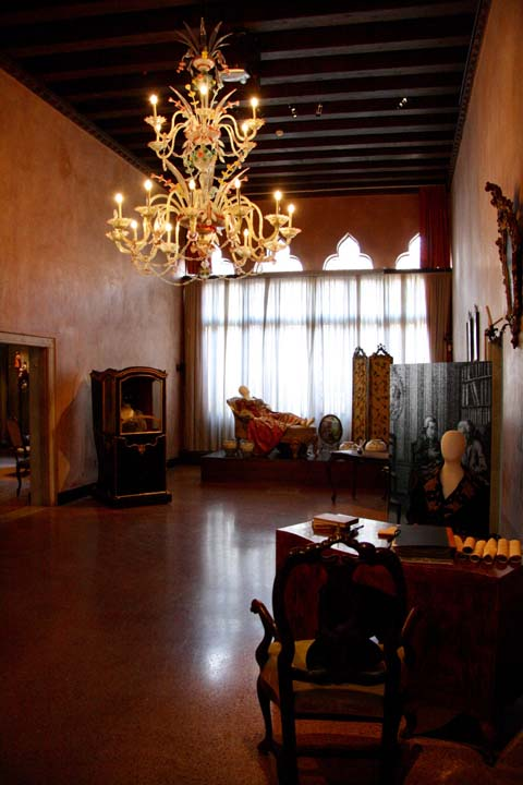Ca' Centani: the 'portego' of Casa Goldoni in Venice
