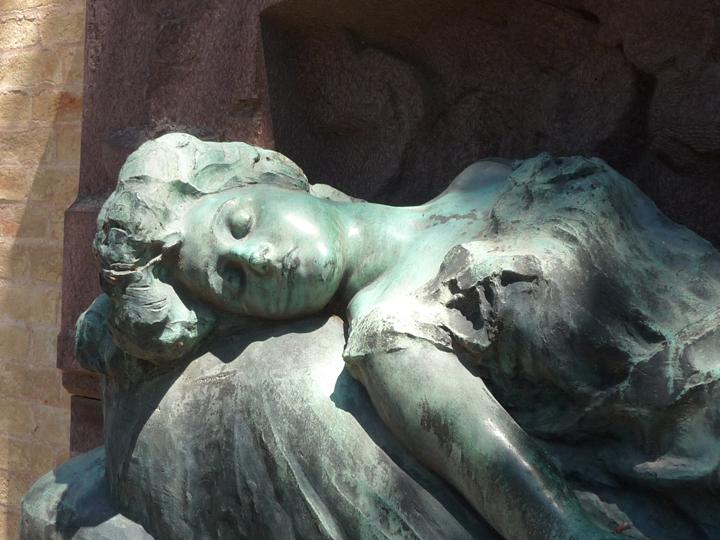 tombeau de Sonia Kaliensky dans le cimetière de San Michele à Venise