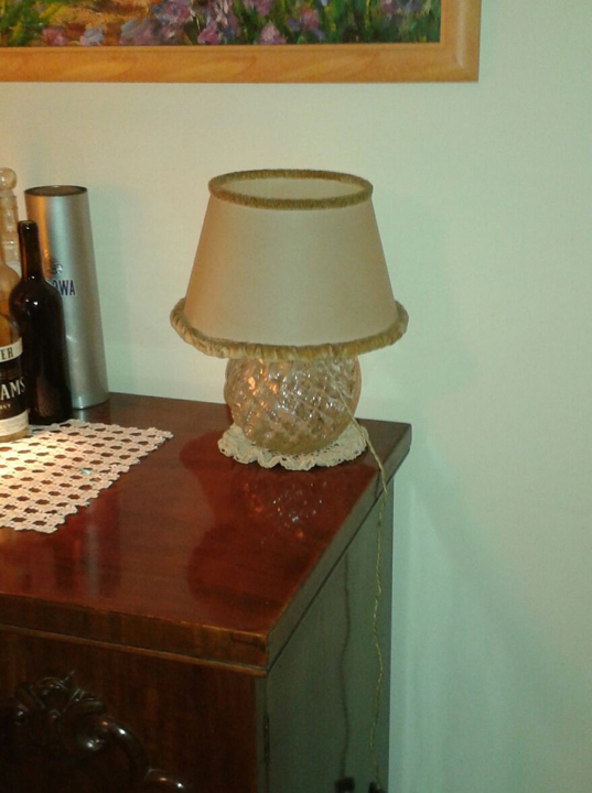 Diamond Vase reinterpreted as a lamp (private collection)
