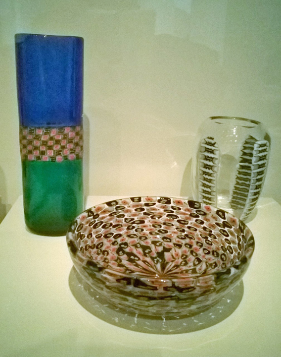 Example of transparent Murrina (objects exposed in the exhibit)