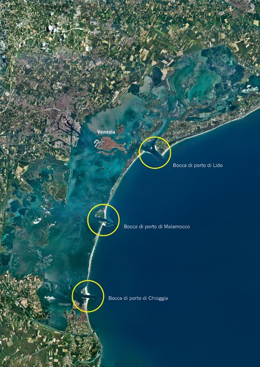 La laguna di Venezia e le bocche di porto