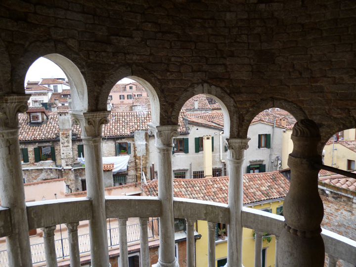 view from the spiral staircase