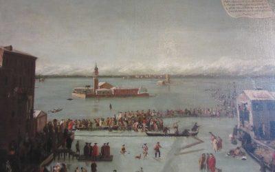 Замерзшая лагуна и зима в Венеции