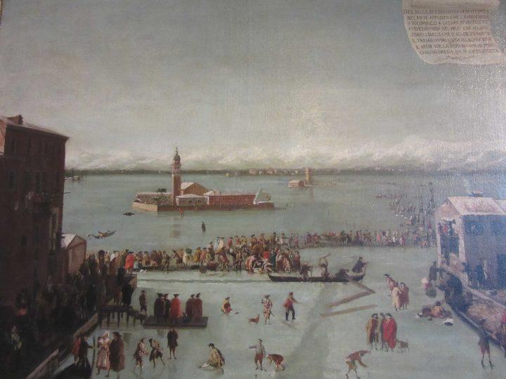 painting by Francesco Battaglioli, 1788, Ca' Rezzonico Museum, Detail