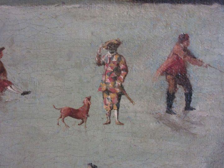 Dipinto di Francesco Battaglioli, 1788, Museo del Settecento Veneziano Ca' Rezzonico, dettaglio