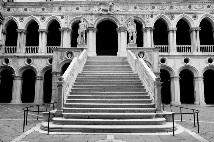 Giants' staircase in the Doge's palace