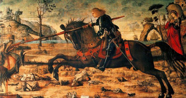Vittore Carpaccio, Sveti Đorđe na konju kopljem ubija aždaju, Scuola Dalmata