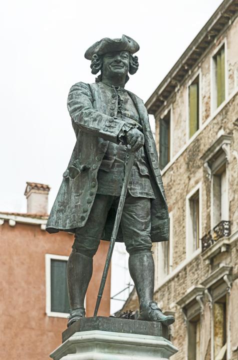 Monumento di Carlo Goldoni, Venezia, campo san Bartolomeo