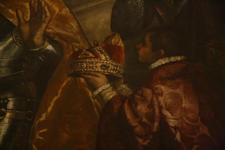 Venezia, Palazzo ducale, Sala delle Quattro Porte, Il doge Antonio Grimani in ginocchio davanti alla Fede di Tiziano Vecellio e aiuti