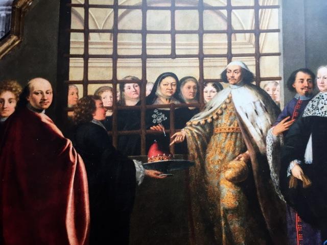 A. Zonca, Visite du Doge à San Zaccaria, 1688, détail