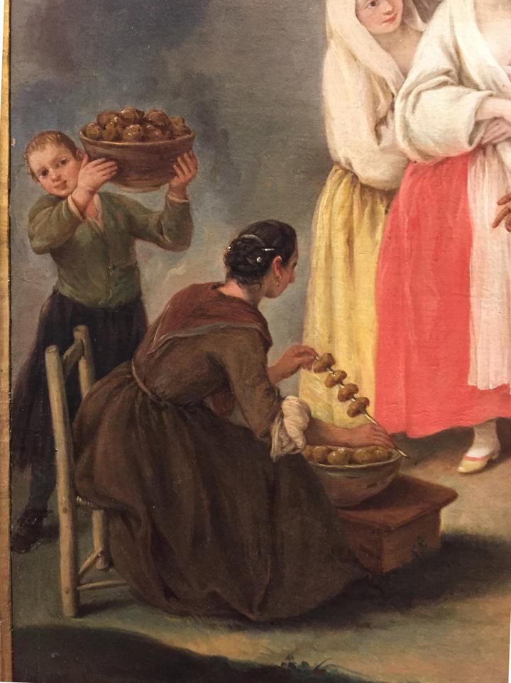 Pietro Longhi, Venditrice di frittelle, Ca' Rezzonico, Venezia