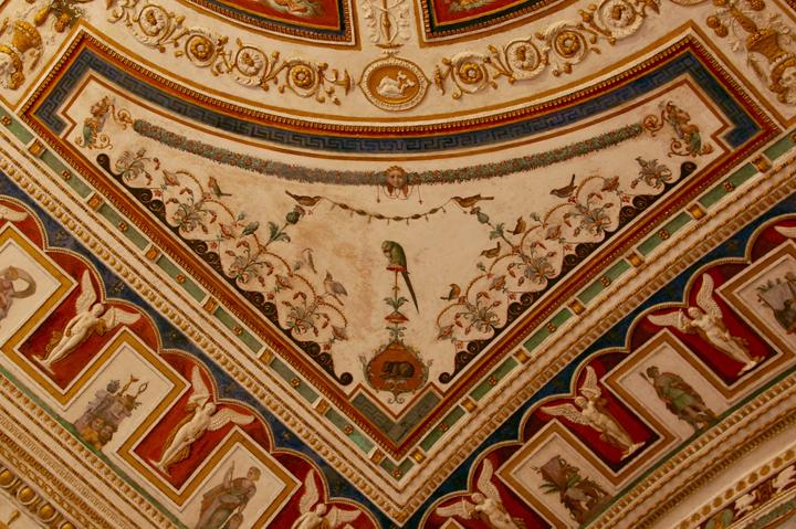 Dettaglio del soffitto del Camerino di Apollo in Palazzo Grimani, con le grottesche di Giovanni da Udine (1540)