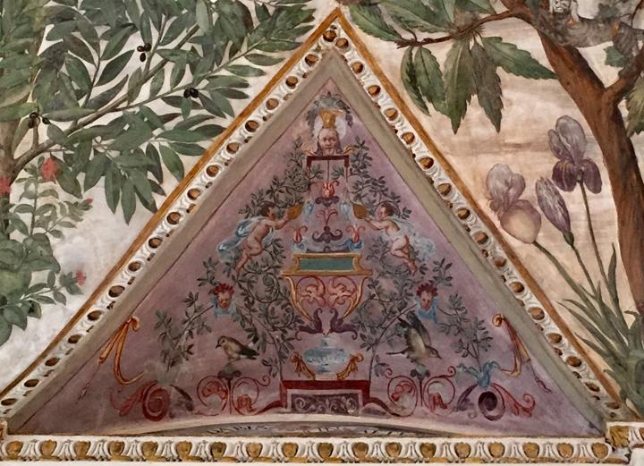 Dettaglio della Sala a Fogliami in Palazzo Grimani, decorata da Camillo Mantovano (1560 ca.)