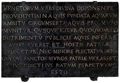 Editto di Egnazio del 16° secolo al Museo Correr, Venezia