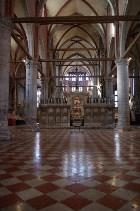 Venice, Frari Church, interior