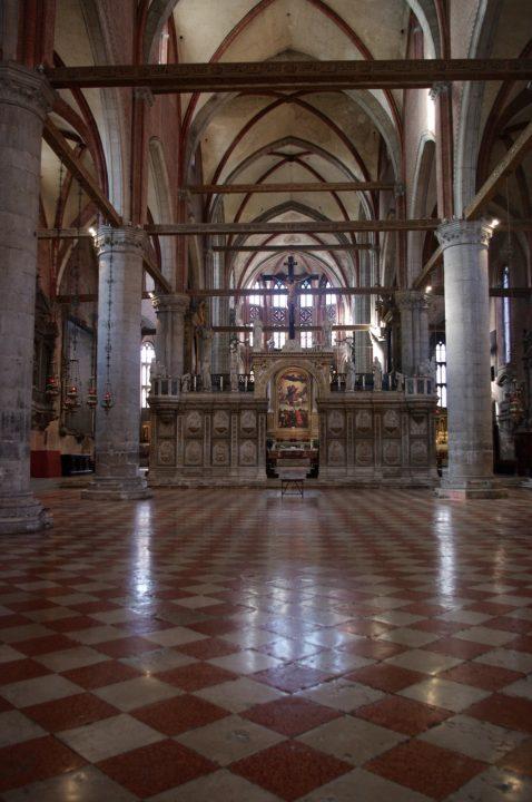 Venice, Frari Church, interior