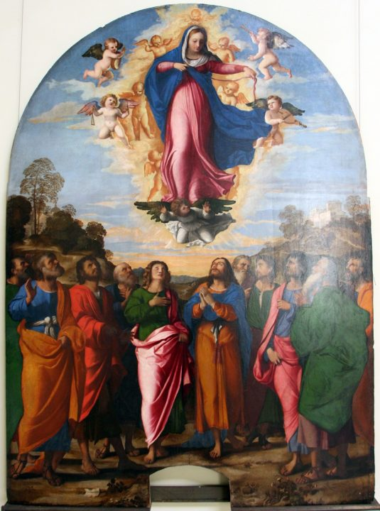 "Palma Il Vecchio, Assumption of the Virgin – 1516- Venice, Gallerie dell""Accademia- fonte: Sailko (Own work) [CC BY-SA 3.0 (http://creativecommons.org/licenses/by-sa/3.0)], via Wikimedia Commons"