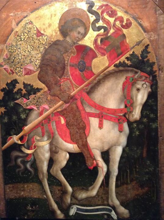 Venezia, Chiesa di San Trovaso, San Crisogono a cavallo di Michele Giambono