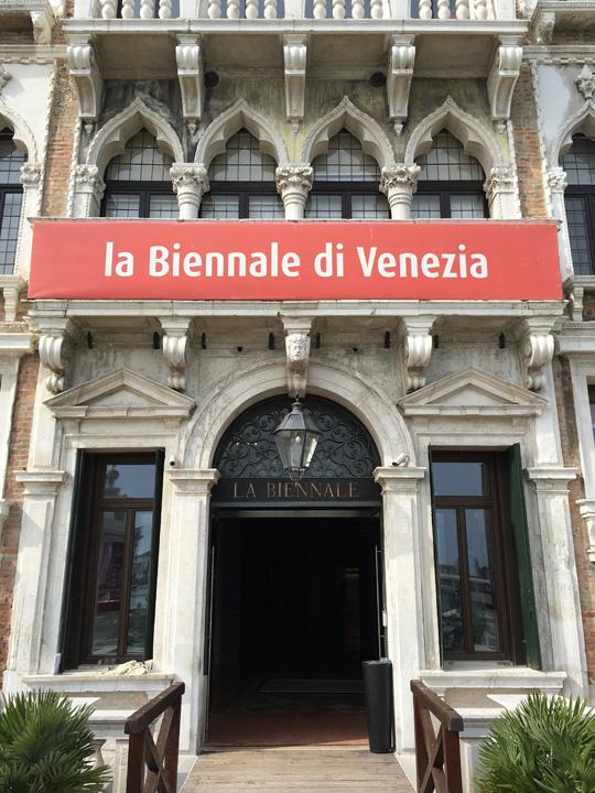 Ca' Giustinian, sede della Biennale. Entrando da un ingresso laterale si accedeva all'Associazione Italia-Urss