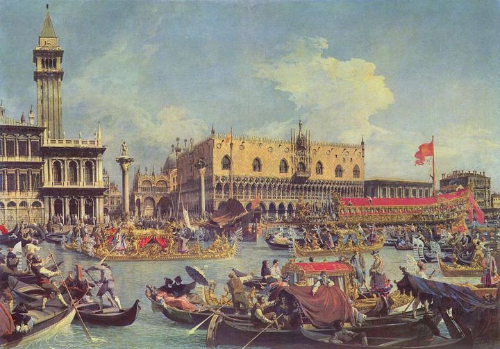 Canaletto, Il ritorno del Bucintoro nel Molo il giorno dell'Ascensione - 1730