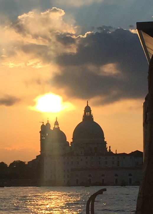 Sunset in Venice with Salute Church