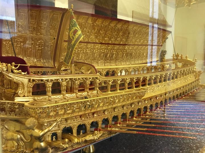 Il modello del Bucintoro, museo navale di Venezia