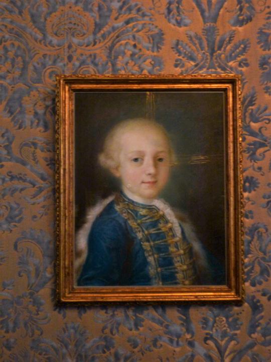 Ritratto di bambino di G.A. Lazzari a Ca' Rezzonico, Museo del Settecento veneziano, Venezia
