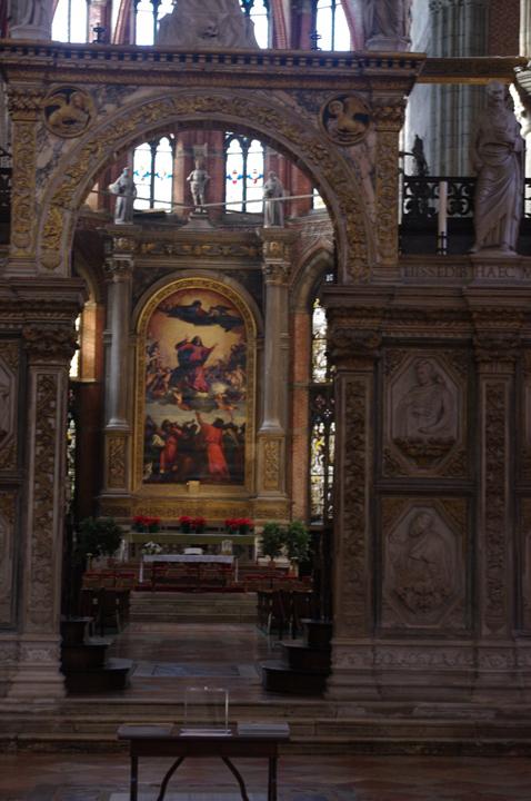 Venezia, Chiesa dei Frari, arco del coro