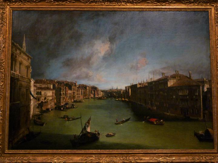 Venezia, Ca' Rezzonico, Canal Grande di Canaletto