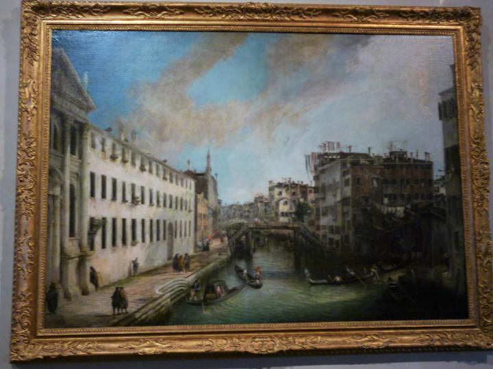 Venezia, Ca' Rezzonico, Rio dei Mendicanti (di Antonio Canaletto)