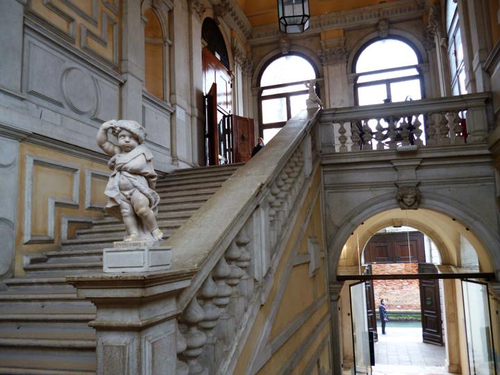 Scalone monumentale a Ca' Rezzonico, Museo del Settecento veneziano, Venezia