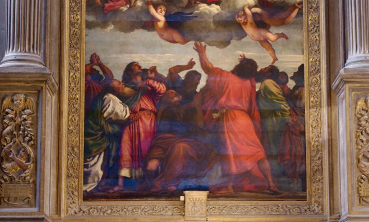 Venezia, chiesa dei Frari, Assunta, particolare degli apostoli