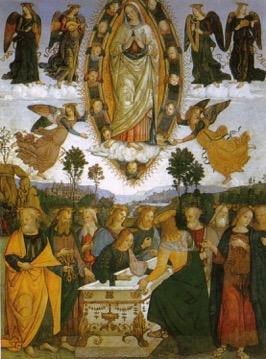 Pinturicchio, Assunzione della Vergine della cappella Basso della Rovere