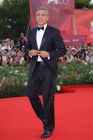 George Clooney on the red carpet in the Lido island